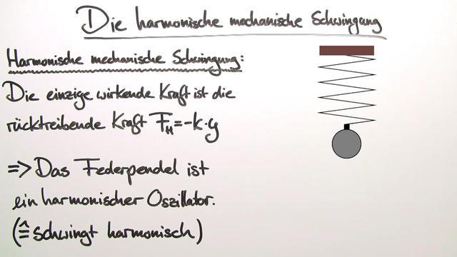 Harmonische mechanische Schwingung