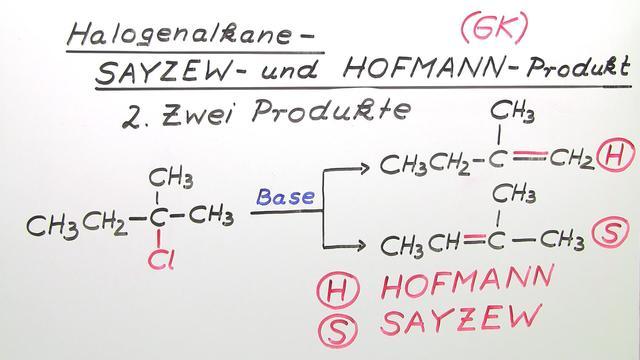 Halogenalkane – Sayzew- und Hofmann-Produkt (Vertiefungswissen)