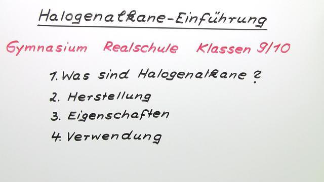 Halogenalkane – Einführung