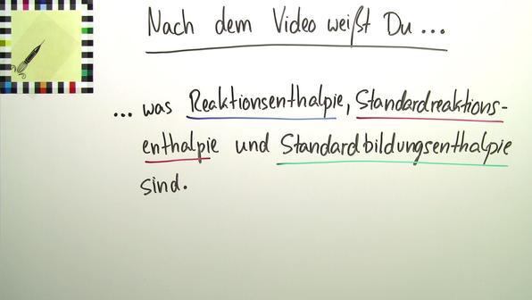 Reaktions-, Standardreaktions- und Standardbildungsenthalpien