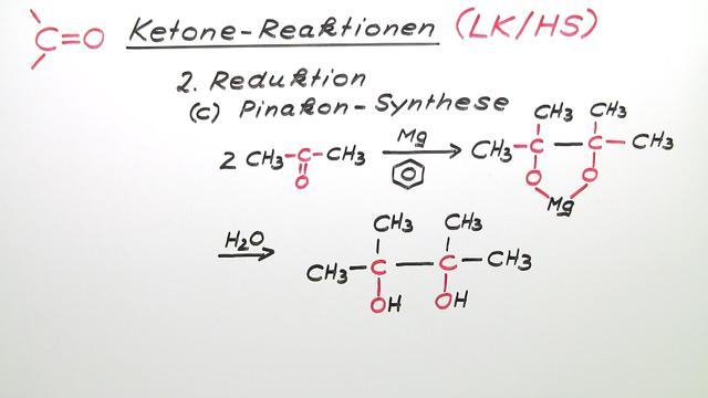 Ketone – Reaktionen (Expertenwissen)
