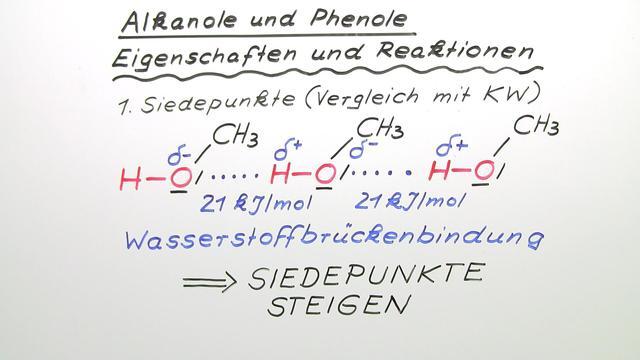 Alkanole und Phenole – Eigenschaften und Reaktionen