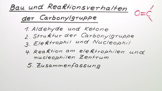 Bau und Reaktionsverhalten der Carbonylgruppe (Übungen & Arbeitsblätter)