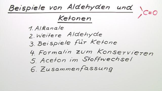 Aldehyde und Ketone – Beispiele