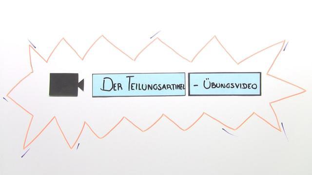 """Teilungsartikel mit """"de"""" – l'article partitif avec de (Übungsvideo)"""