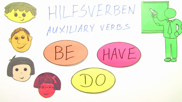 Hilfsverben: be, have, do
