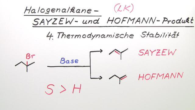 Halogenalkane – Sayzew- und Hofmann-Produkt (Expertenwissen)