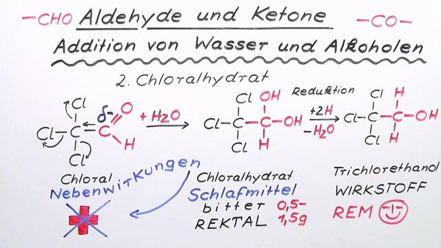Aldehyde und Ketone - Addition von Wasser und Alkoholen