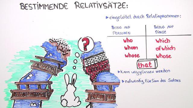 Defining Relative Clauses – bestimmende Relativsätze (Übungsvideo)