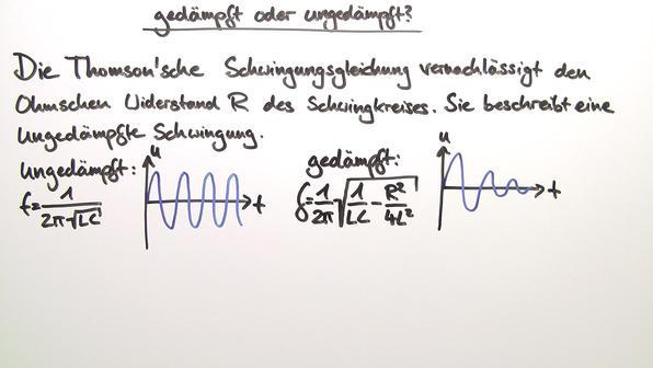 Der elektrische schwingkreis teil 2 vorschaubild