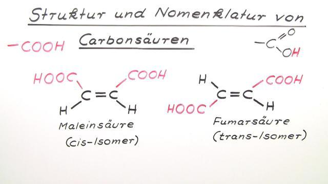 Carbonsäuren – Nomenklatur und Struktur