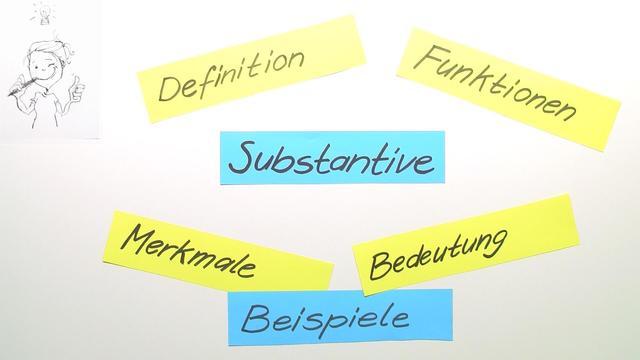 Substantive – Überblick