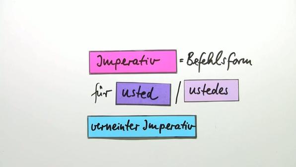 Imperative von usted und verneinte Imperative