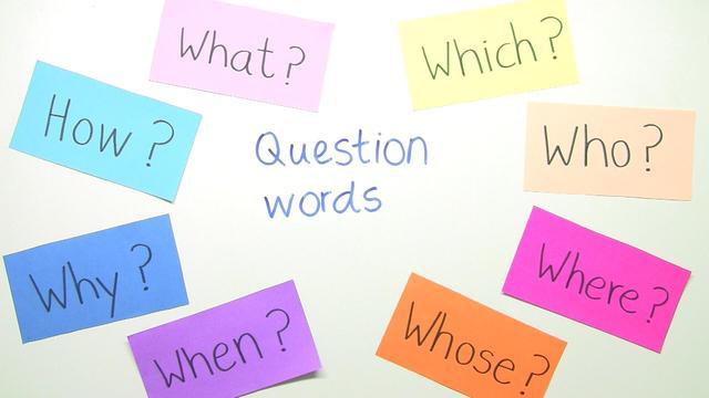 Question Words – Fragewörter (Übungsvideo)