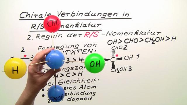 Chirale Verbindungen in R/S-Nomenklatur