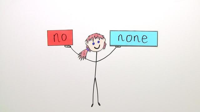 Quantifiers: no and none (Übungsvideo)