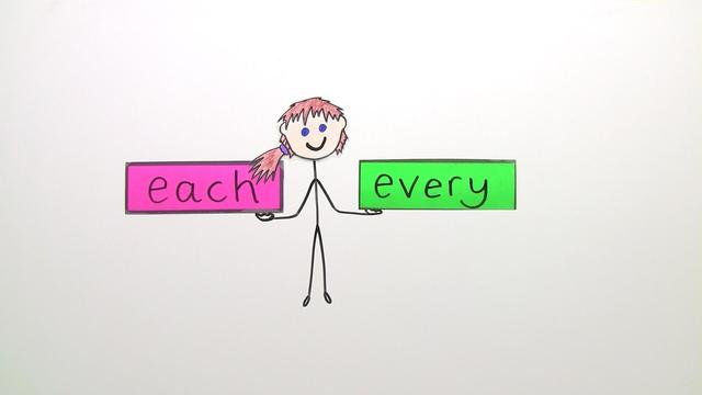 Quantifiers: each and every (Übungsvideo)