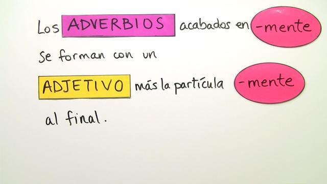 Adverbien auf -mente und die Unterscheidung vom Adjektiv – Spanisch ...