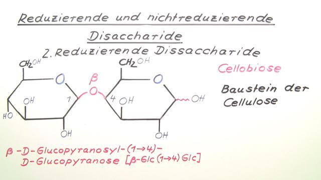 Reduzierende und nichtreduzierende Disaccharide