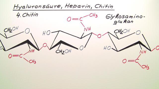 Hyaluronsäure, Heparin, Chitin