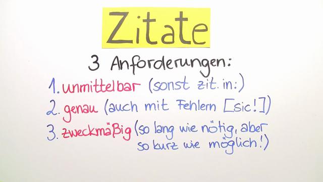 Zitate und Paraphrasen – Einfach erklärt (inkl. Übungen)
