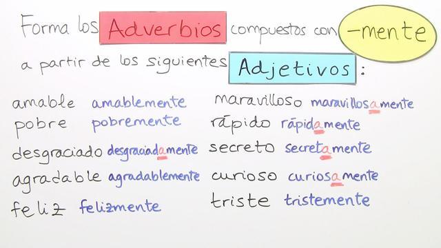 unterscheidung von adjektiv und adverb bungsvideo spanisch online lernen. Black Bedroom Furniture Sets. Home Design Ideas