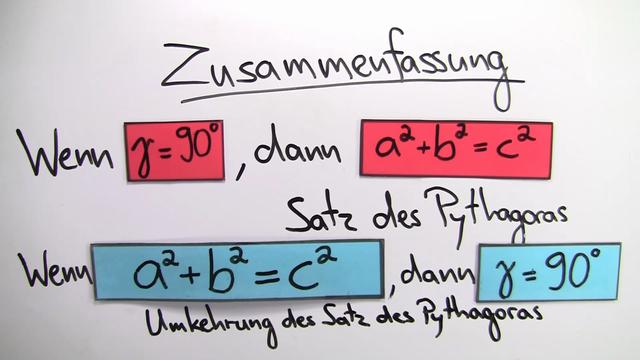 Umkehrung des Satzes von Pythagoras