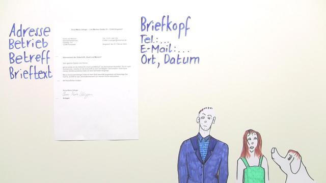 Einen Geschäftsbrief Schreiben übungen Arbeitsblätter
