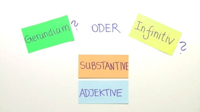 Gerund and Infinitive – nach Substantiven und Adjektiven (Übungsvideo)