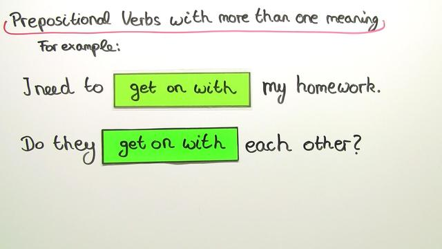Prepositional Verbs – mit mehreren Bedeutungen