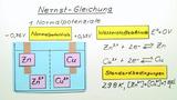Die Nernst-Gleichung – Einführung