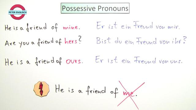 Possessivpronomen – Possessive Pronouns (Übungen & Arbeitsblätter)