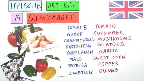 Food and Beverages at the Supermarket – Vokabeln zum Thema Essen und Trinken