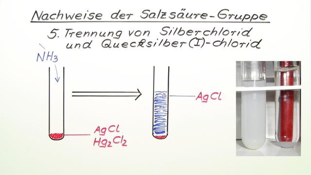 Nachweise der Salzsäure-Gruppe