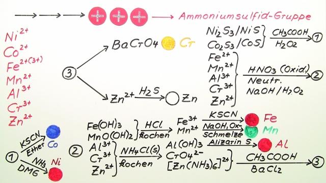 Nachweise der Ammoniumsulfid-Gruppe