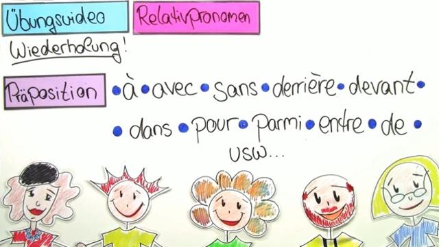 """Relativpronomen: """"lequel, laquelle, lesquels, lesquelles"""" und """"qui"""" mit Präpositionen (Übungsvideo)"""