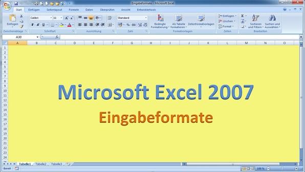 Lektion 02 excel 2007 eingabeformate
