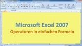Lektion 04 Excel 2007 Operatoren