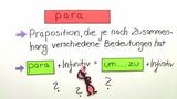 Die Präposition para + Infinitiv