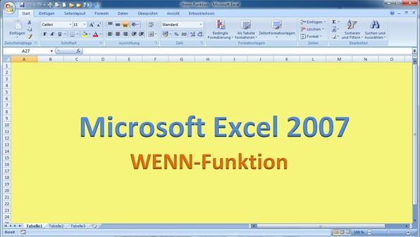 Lektion 11 excel 2007 wenn funktion