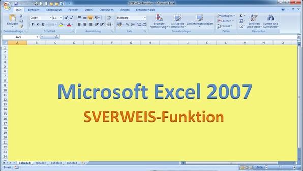 Lektion 17 excel 2007 sverweis funktion