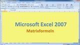 Lektion 20 Excel 2007 Matrixformeln