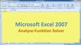Lektion 23 Excel 2007 Solver