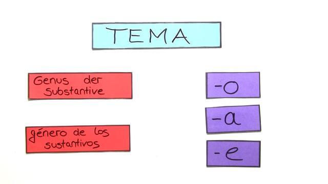 Das Geschlecht der Substantive auf -o,-a und -e