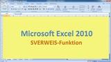 Lektion 17 Excel 2010 SVERWEIS Funktion