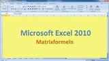 Lektion 20 Excel 2010 Matrixformeln