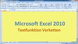 Lektion 22 Excel 2010 Verketten