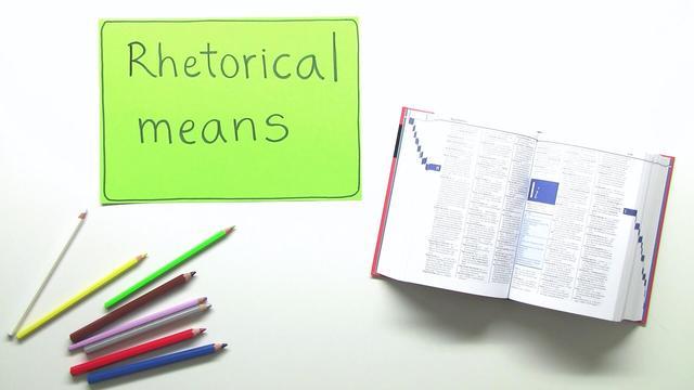 Rhetorical Means – Rhetorische Mittel – Englisch online lernen