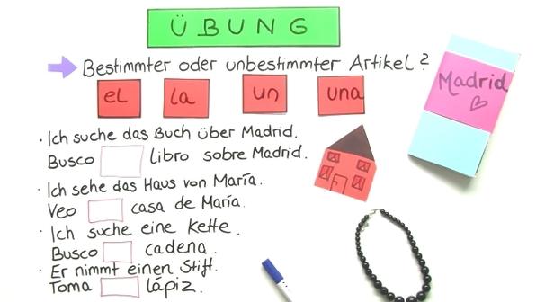 Artikel im Spanischen - Übungsvideo
