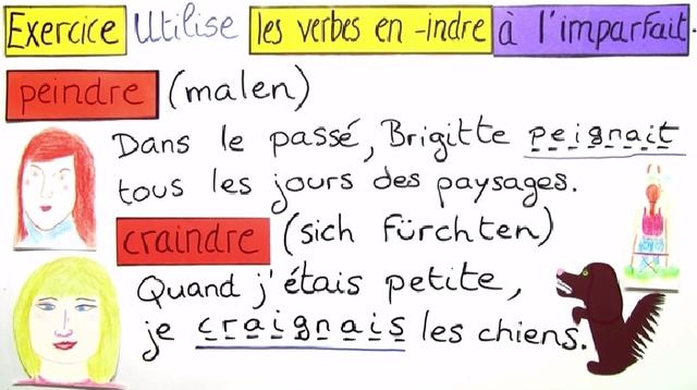 Verben auf -indre (Übungsvideo)